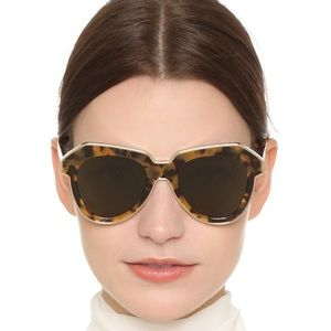 KAREN WALKER ONE ASTRONAUT Tortoise Sunglasses NEW